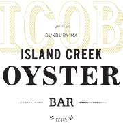 This is the restaurant logo for Island Creek Oyster Bar - Boston