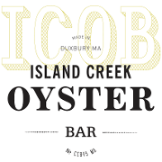 This is the restaurant logo for Island Creek Oyster Bar - Burlington
