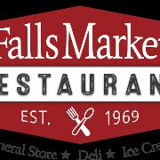 This is the restaurant logo for FALLS MARKET  RESTAURANT