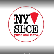This is the restaurant logo for The NY Slice