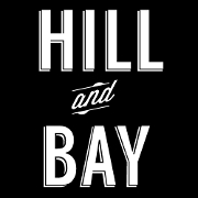 This is the restaurant logo for Hill and Bay
