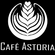 This is the restaurant logo for Cafe Astoria