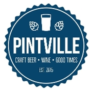 This is the restaurant logo for Pintville Craft Beer