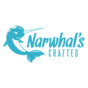 This is the restaurant logo for Narwhal's Crafted