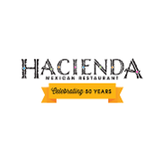 This is the restaurant logo for Hacienda Mexican Restaurant