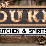 This is the restaurant logo for The Duke Kitchen & Spirits