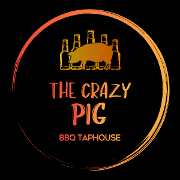 This is the restaurant logo for The Crazy Pig
