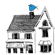 This is the restaurant logo for Art Cafe of Nyack