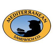 This is the restaurant logo for Mediterranean Sandwich Co. Downtown