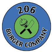 This is the restaurant logo for 206 Burger Company