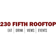 This is the restaurant logo for 230 Fifth