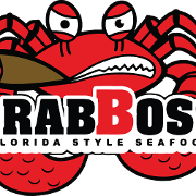 This is the restaurant logo for The Crab Boss Seafood