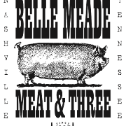 This is the restaurant logo for Belle Meade Meat and Three