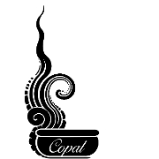 This is the restaurant logo for Copal Mexican Cuisine