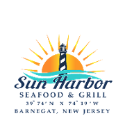 This is the restaurant logo for Sun Harbor Seafood and Grill