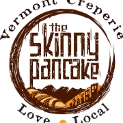 This is the restaurant logo for The Skinny Pancake