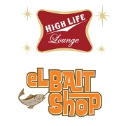 This is the restaurant logo for High Life Lounge / el Bait Shop