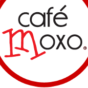 This is the restaurant logo for Cafe Moxo