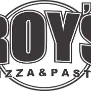 This is the restaurant logo for Roy's Pizza & Pasta