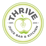 This is the restaurant logo for Thrive Juice Bar