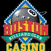 This is the restaurant logo for Boston Billiard Club & Casino