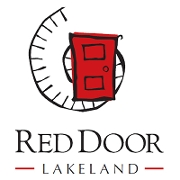 This is the restaurant logo for Red Door Lakeland