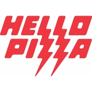 This is the restaurant logo for Hello Pizza