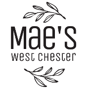 This is the restaurant logo for Mae's WC
