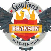 This is the restaurant logo for Guy Fieri's Branson Kitchen + Bar