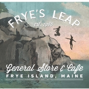 This is the restaurant logo for Fryes Leap General Store and Cafe