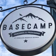 This is the restaurant logo for Basecamp