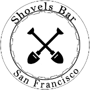 This is the restaurant logo for Shovels Bar