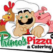 This is the restaurant logo for Primos Pizza & Catering