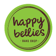 This is the restaurant logo for Happy Bellies Bake Shop