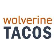 This is the restaurant logo for Wolverine Tacos