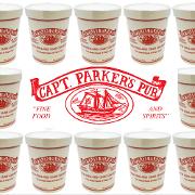 This is the restaurant logo for Captain Parker's Pub