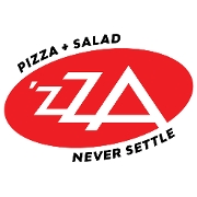 This is the restaurant logo for 'ZZA Pizza + Salad