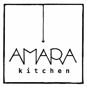 This is the restaurant logo for Amara Kitchen