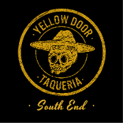 This is the restaurant logo for Yellow Door Taqueria South End