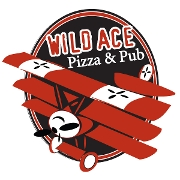 This is the restaurant logo for Wild Ace Pizza & Pub