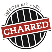 This is the restaurant logo for Charred American Bar & Grill