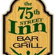 This is the restaurant logo for The 75th Street Inn