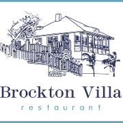 This is the restaurant logo for Brockton Villa Restaurant