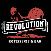 This is the restaurant logo for Revolution Rotisserie