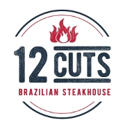 This is the restaurant logo for 12 Cuts Brazilian Steakhouse