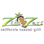 This is the restaurant logo for Zim Zari California Coastal Grill