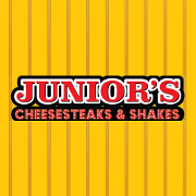 This is the restaurant logo for Juniors Cheesesteaks & Shakes
