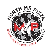 This is the restaurant logo for Mr. Pizza North - Rochester, MN