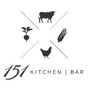 This is the restaurant logo for 151 Kitchen | Bar
