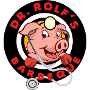 Restaurant logo for Dr. Rolf's Barbeque